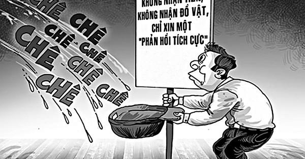 Một minh họa về thói xấu người Việt trên internet.