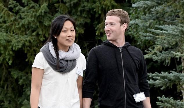 Vợ chồng CEO Facebook Mark Zuckerberg và Priscilla Chan