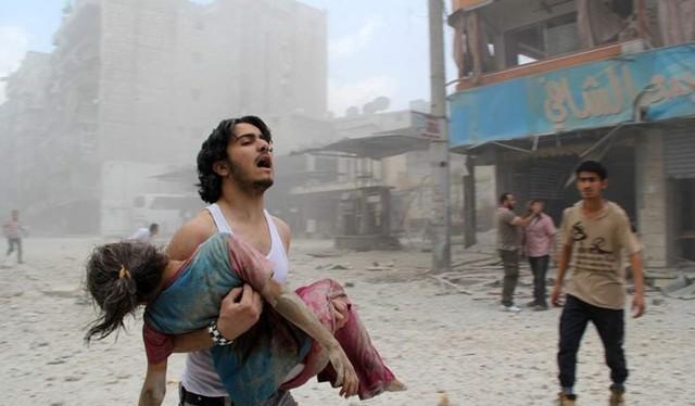 Bức ảnh đoạt giải của Baraa al Halabi. (Ảnh: AFP).