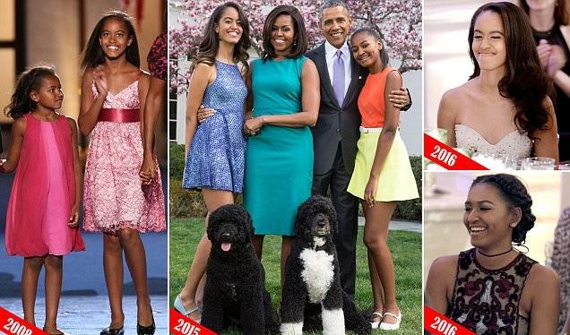 Hai kiều nữ Sasha và Malia của tổng thống Obama đã trưởng thành hơn rất nhiều so với 8 năm về trước.