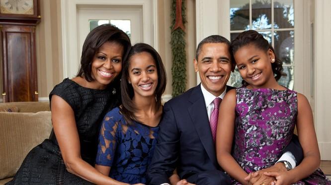 Gia đình hạnh phúc của tổng thống Obama