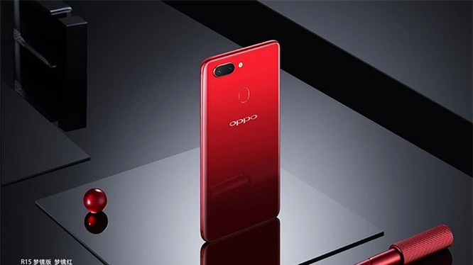 Oppo R15 Hot Red (ảnh: GSM Arena)
