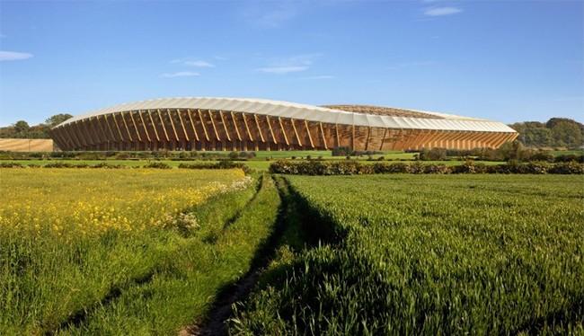 Sân bóng của CLB Forest Green Rovers (theo CNN)