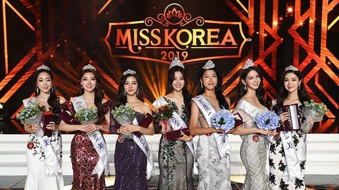 Hoa hậu và 6 Á hậu Hàn Quốc 2019. Nguồn ảnh: Korean Times