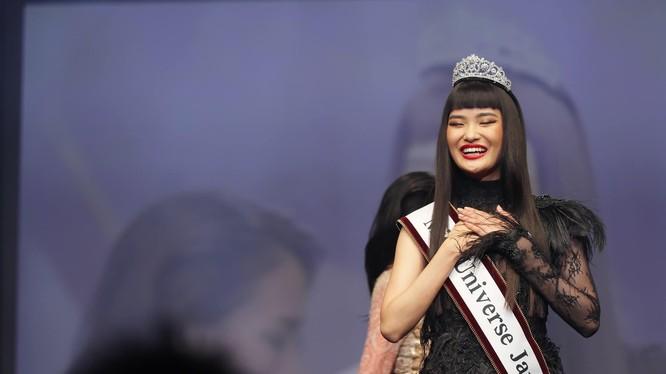 Nhan sắc gây tranh cãi của Hoa hậu hoàn vũ Nhật Bản 2019. Ảnh: MUJ