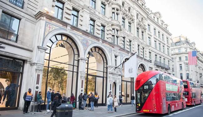 Apple Store tại đường Regent Street, Luân Đôn. Nguồn: Cnet