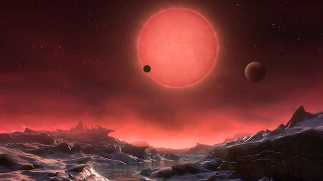 Hiện tại, chúng ta đang hy vọng tìm ra cuộc sống ngoài hành tinh, và hiện nay một loạt nghiên cứu đã làm sáng tỏ hệ thống hành tinh của Trappist-1. Nguồn: mirror.co.uk