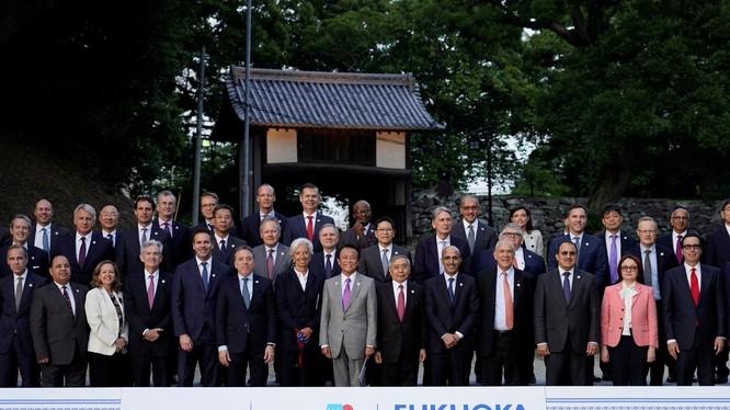 Các Bộ trưởng Tài chính trong Hội nghị G20 được tổ chức tại Fukuoka, Nhật Bản, ngày 8.6.2019. Ảnh: Reuters