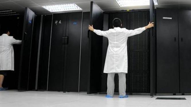 Sunway TaihuLight, một siêu máy tính của Trung Quốc. Ảnh: SCMP