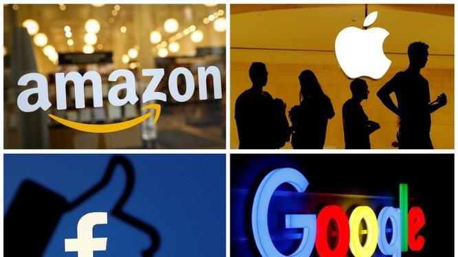 Bốn ông lớn công nghệ Amazon, Apple, Facebook và Google đã bị cáo buộc lợi dụng sức mạnh thị trường của mình để chống lại sự cạnh tranh. Ảnh: Reuters
