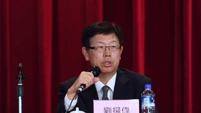 Chủ tịch mới của Foxconn, Liu Young-way trong cuộc họp báo vào ngày 11.6.2019. Ảnh: SCMP