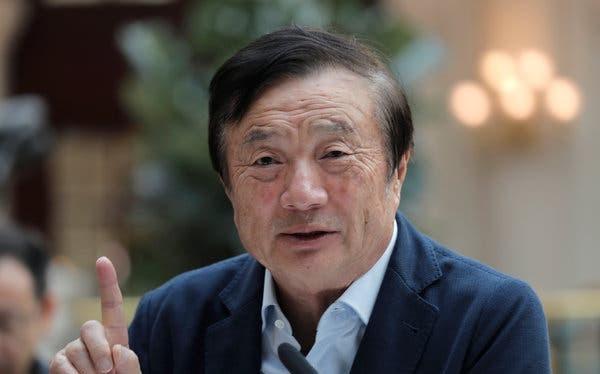 Nhà sáng lập Huawei Nhậm Chính Phi. Ảnh: NY Times