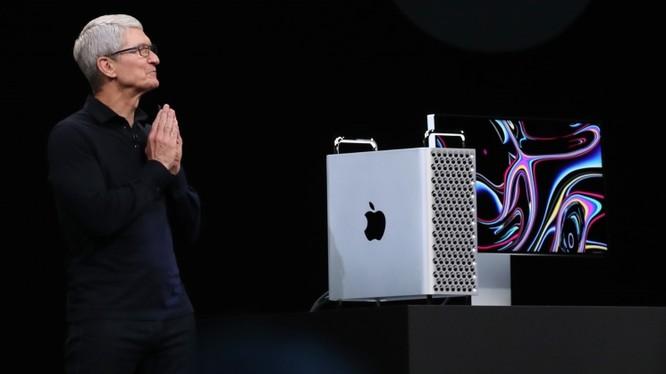 CEO Tim Cook công bố máy tính Mac Pro mới tại Hội nghị các nhà phát triển Apple 2019 ngày 3 tháng 6 năm 2019. Ảnh: Pressfrom