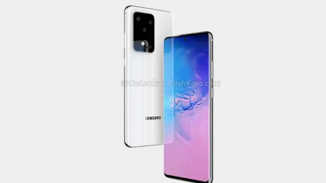 Samsung Galaxy S11+. Ảnh: Gizmochina