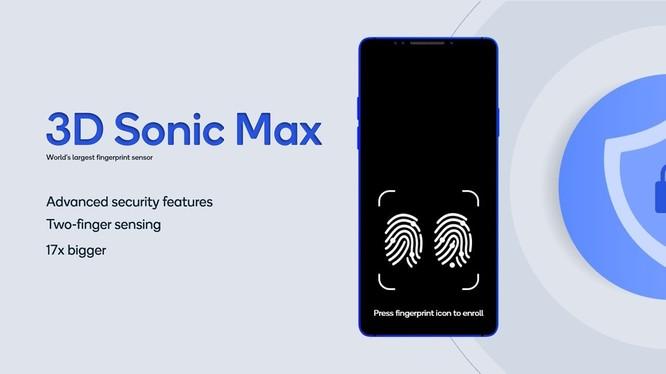 Cảm biến vân tay siêu âm 3D Sonic Max