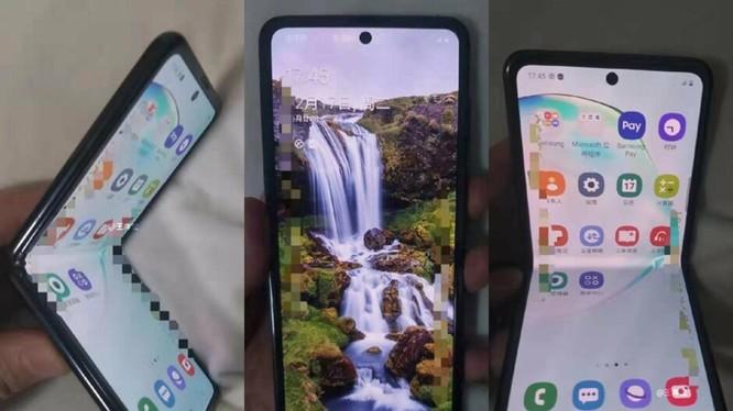 Hình ảnh được cho là của chiếc điện thoại nắp gập mới của Samsung. Ảnh: PhoneArena