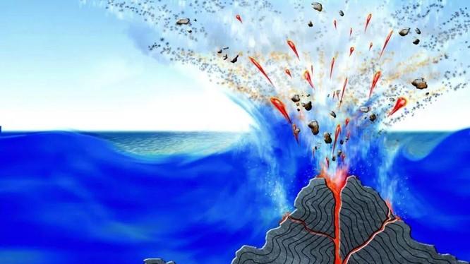 Núi lửa có thể hình thành và phun trào dưới đáy biển. Ảnh: Sohu