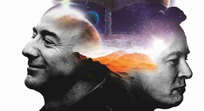 Khát vọng chinh phục không gian của hai vị tỉ phú giàu nhất thế giới. Ảnh: Zhihu
