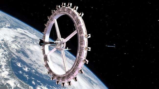 Khách sạn ngoài không gian có thể đưa người đến du lịch vào năm 2027. Ảnh: Sohu