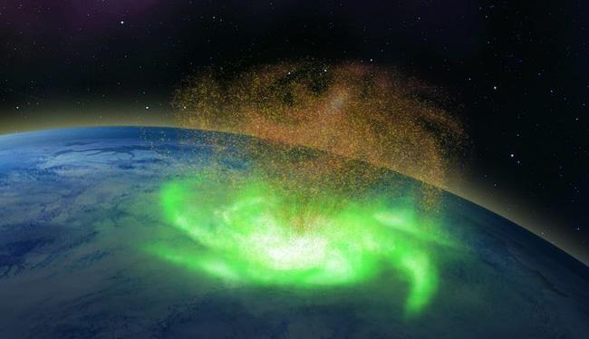 Cơn bão không gian lần đầu được quan sát thấy ở phía trên Trái đất.