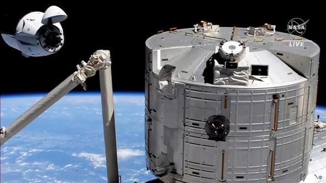 Ảnh chụp màn hình từ chương trình phát sóng trực tiếp của NASA vào ngày 24/4.