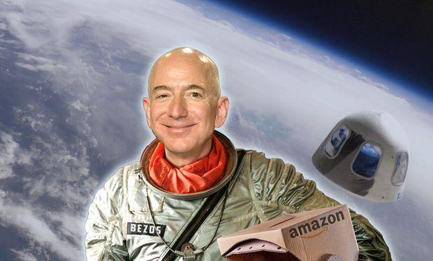 Ông chủ Amazon, Jeff Bezos tuyên bố sẽ bay vào vũ trụ. Ảnh: Market Watch