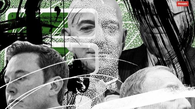 Tỉ phú Jeff Bezos và Elon Musk bị cáo buộc lách nộp thuế trong vài năm. Ảnh: ProPublica
