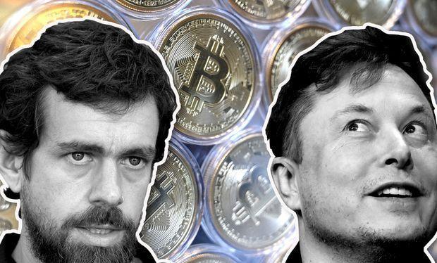 Elon Musk và Jack Dorsey là hai nhân vật ủng hộ mạnh mẽ tiền mã hóa thời gian qua. Ảnh: MarketWatch