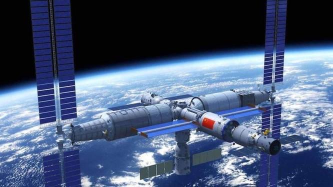 Hình đồ họa mô phỏng Thiên Cung 3 khi đã thành hình trên quỹ đạo. Ảnh: CMSA