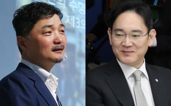 Ông Kim Beom-su và thái tử Samsung Lee Jae-yong
