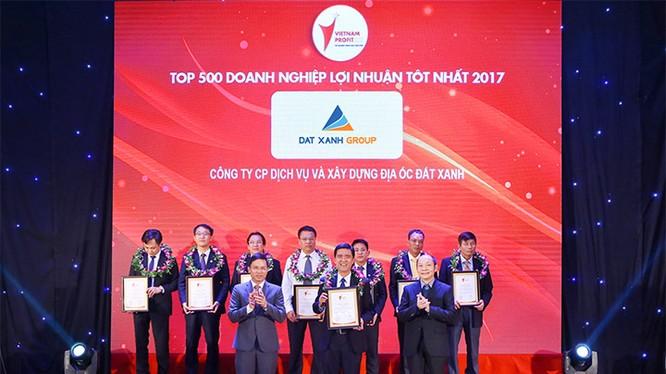 Đất Xanh lọt vào top 76 doanh nghiệp có lợi nhuận tốt nhất Việt Nam năm 2017 (Nguồn: DXG)