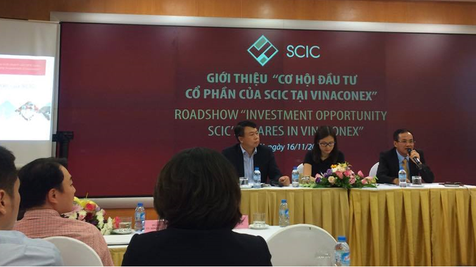 """Buổi Road show """"Giới thiệu cơ hội đầu tư cổ phần của SCIC tại Vinaconex"""" được tổ chức ngày 16/11/2017 (Ảnh: P.D)"""