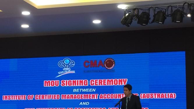 Ông Phan Lê Thành Long - Giám đốc Viện Kế toán Quản trị Công chứng Úc (CMA Australia) tại Việt Nam
