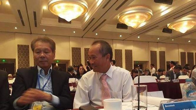 Ông Dương Công Minh tại ĐHĐCĐ Sacombank ngày 30/6/2017