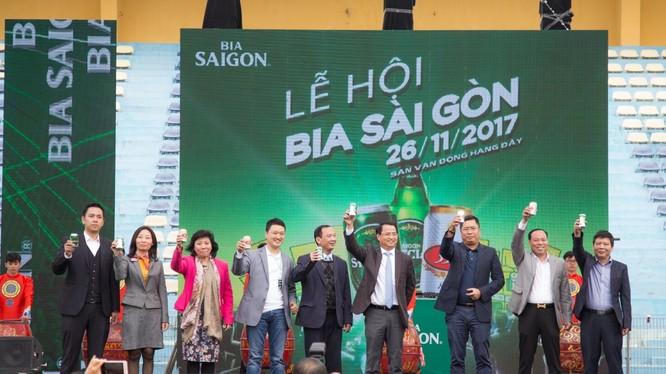 """""""Lễ hội bia"""" được tổ chức nhân kỷ niệm 142 năm ra đời thương hiệu Bia Sài Gòn (Nguồn: Sabeco)"""