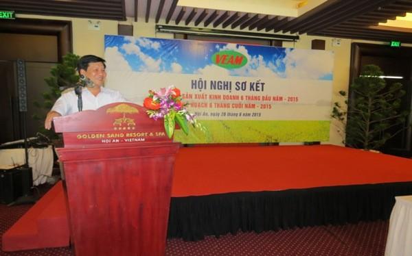 Ông Trần Ngọc Hà phát biểu tại một hội nghị sơ kết đánh giá kết quả sản xuất kinh doanh của VEAM (Nguồn: VEAM)