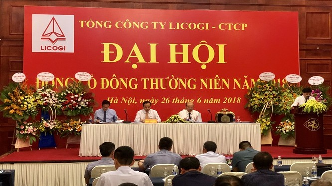 Đại hội đồng cổ đông thường niên năm 2018 CTCP Tổng công ty Licogi (Nguồn: LIC)