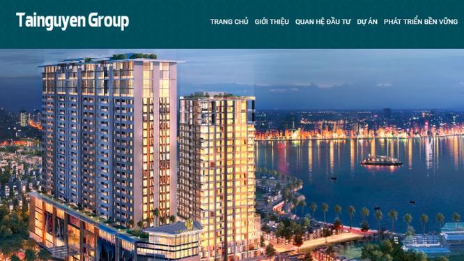 Ảnh chụp màn hình website Công ty Cổ phần Tài Nguyên - Mã CK: TNT (Nguồn: tainguyen.vn)