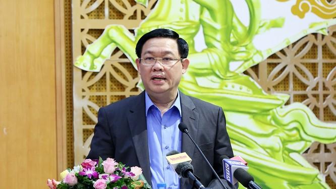 Phó Thủ tướng Vương Đình Huệ phát biểu tại Hội nghị - Nguồn: Thành Chung/VGP