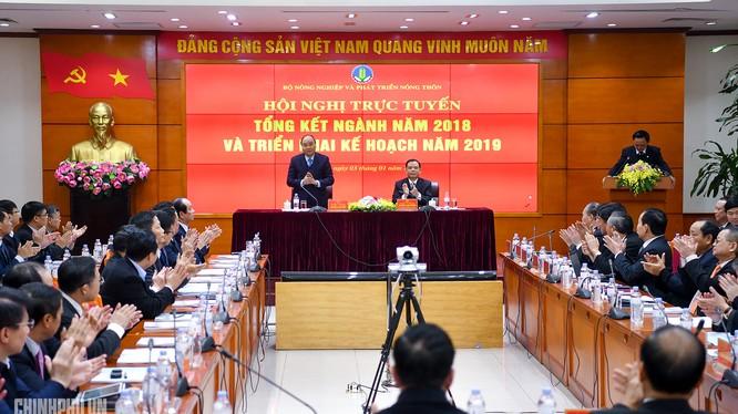 Quang cảnh Hội nghị triển khai nhiệm vụ 2019 của Bộ Nông nghiệp và Phát triển Nông thôn (Ảnh; VPCP)