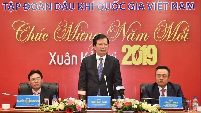 Phó Thủ tướng Trịnh Đình Dũng phát biểu tại buổi làm việc (Ảnh: VGP/Nhật Bắc)