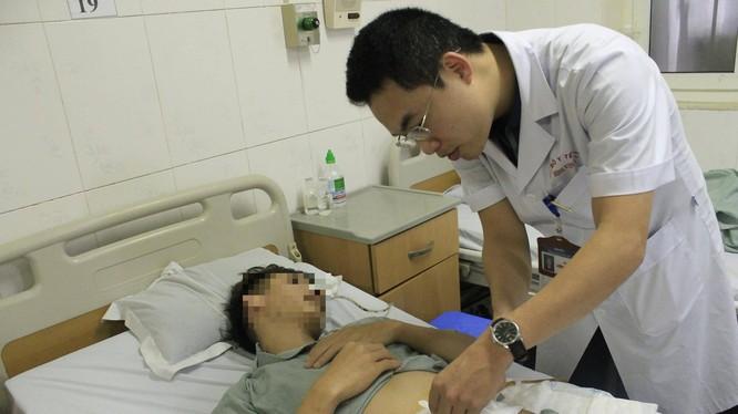 Bệnh nhân sau khi được phẫu thuật (Ảnh: PV)