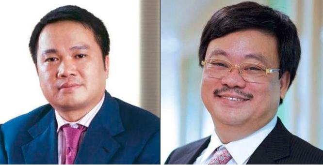 Ông Hồ Hùng Anh (bên trái) và ông Nguyễn Đăng Quang (bên phải)