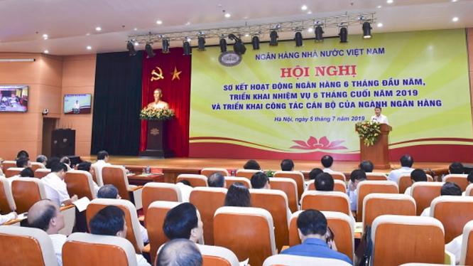 Quang cảnh Hội nghị trực tuyến (Nguồn: NHNN)