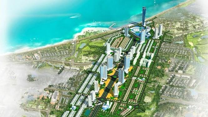 Phối cảnh dự án Khu trung tâm đô thị - thương mại - dịch vụ - tài chính - du lịch Nha Trang mà Tập đoàn Phúc Sơn đang triển khai (Ảnh: Internet)