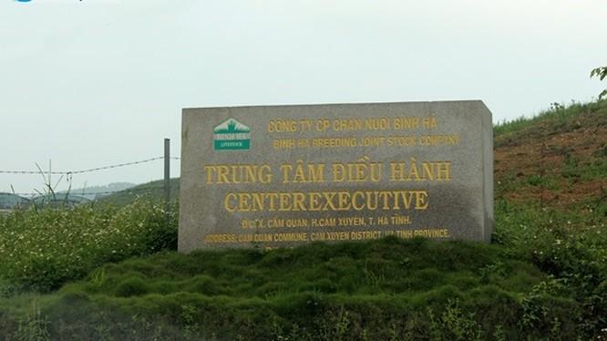 Dự án chăn nuôi bò 2.000ha của Công ty Bình Hà tại Hà Tĩnh (Ảnh: Báo Hà Tĩnh)