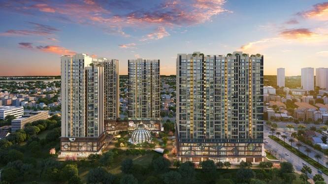 Phối cảnh dự án Hinode City do Vietracimex làm chủ đầu tư (Ảnh: Internet)