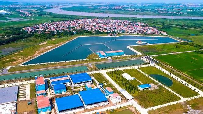 Dự án Nhà máy nước mặt Sông Đuống nhìn từ trên cao (Ảnh: Internet)