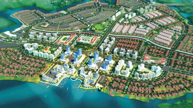 Phối cảnh dự án Khu đô thị sinh thái - kinh tế mở Long Hưng (Nguồn: Internet)