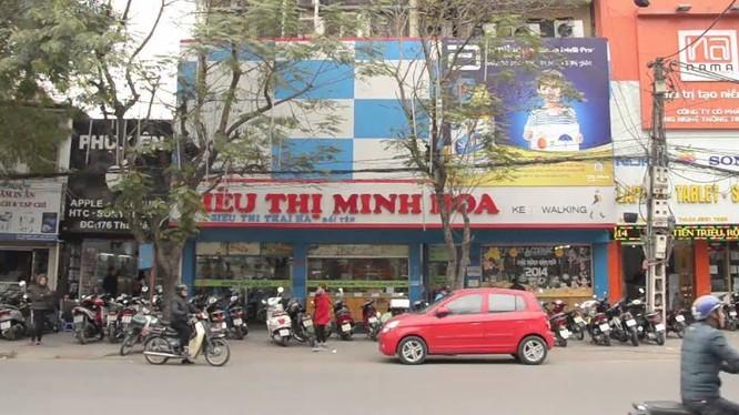 Siêu thị Minh Hoa trên phố Thái Hà (Ảnh: Internet)
